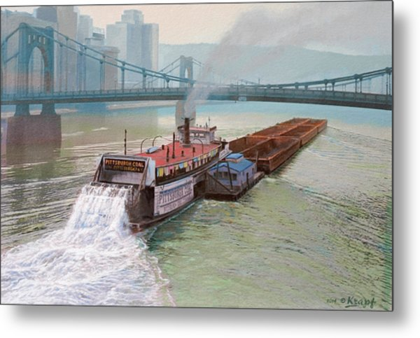 Pittsburgh River Boat-1948 Metal Print