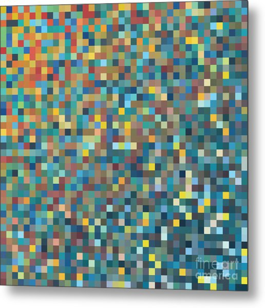 Pixel Art Vector Background Metal Print by Mike Taylor