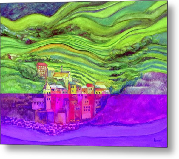 Pizza In Vernazza Metal Print
