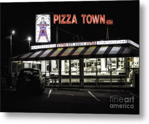 Pizza Town Metal Print