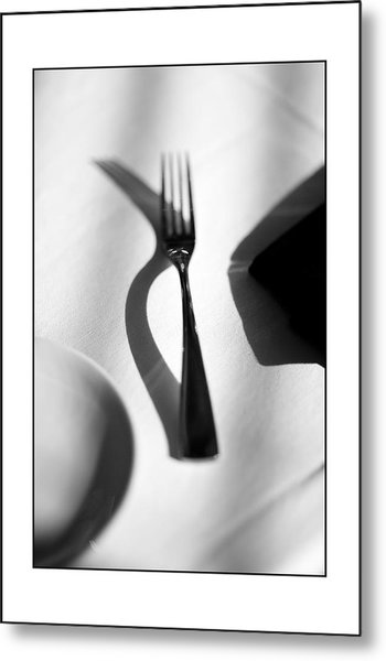 Place Setting Simplicity Metal Print by Don Powers