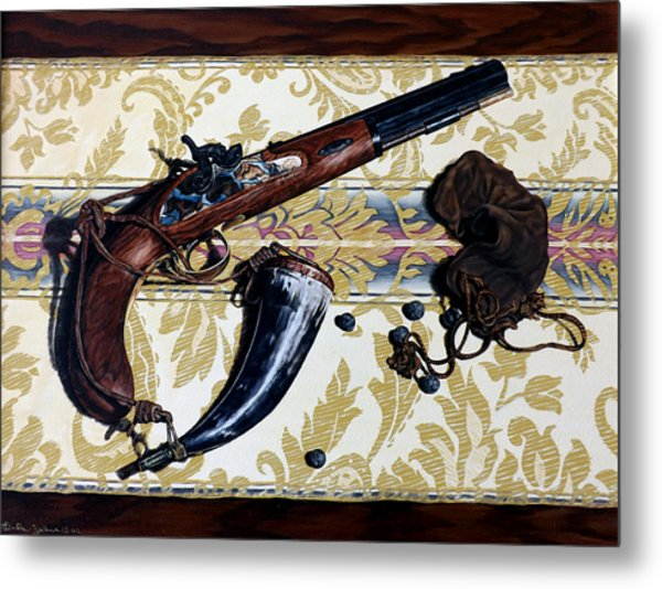 Plains Pistol Metal Print