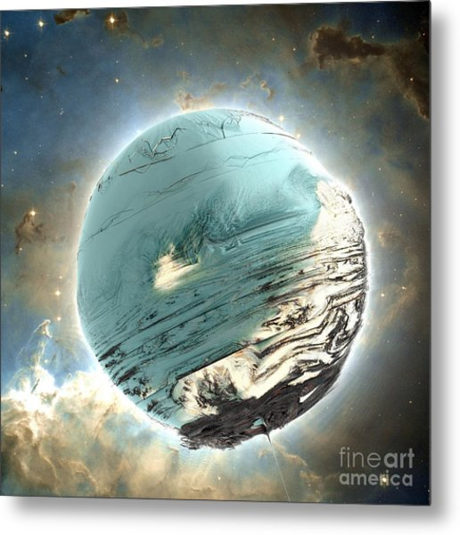 Planet Blue Metal Print by Bernard MICHEL