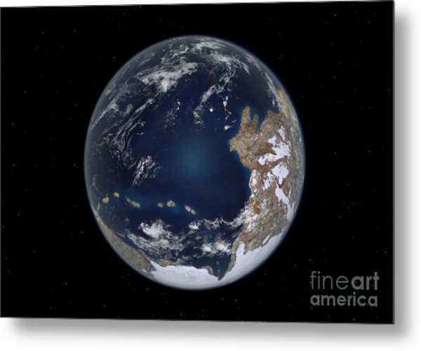 Planet Earth 600 Million Years Ago Metal Print