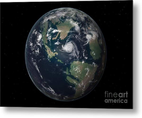 Planet Earth 90 Million Years Ago Metal Print