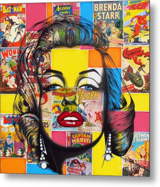 Planet Marilyn Metal Print