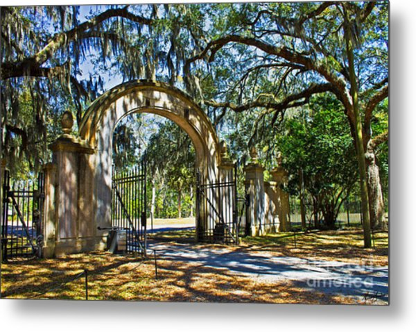 Plantation Gate Metal Print