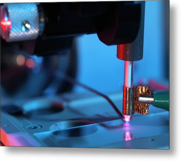 Plasma-assisted Desorption Ionisation Metal Print by Andrew Brookes, National Physical Laboratory