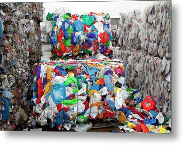 Plastic For Recycling Metal Print
