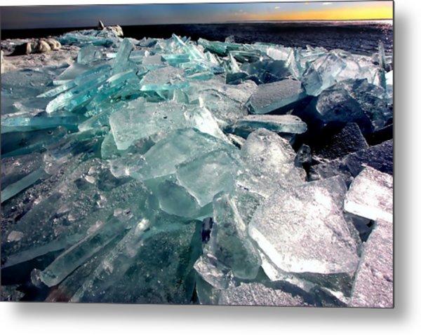 Plate Ice  Metal Print