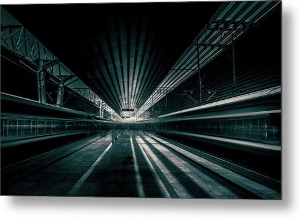 Platform Beijing Metal Print by Baidongyun