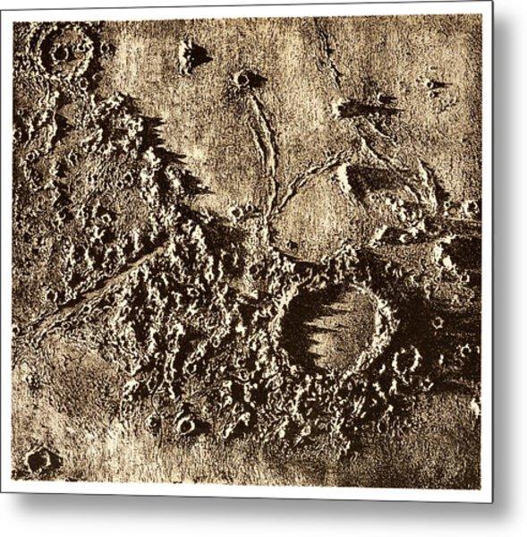 Plato Lunar Crater. Metal Print