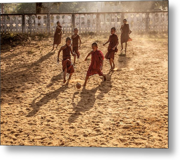 Play Is Equally Important As Pray Metal Print