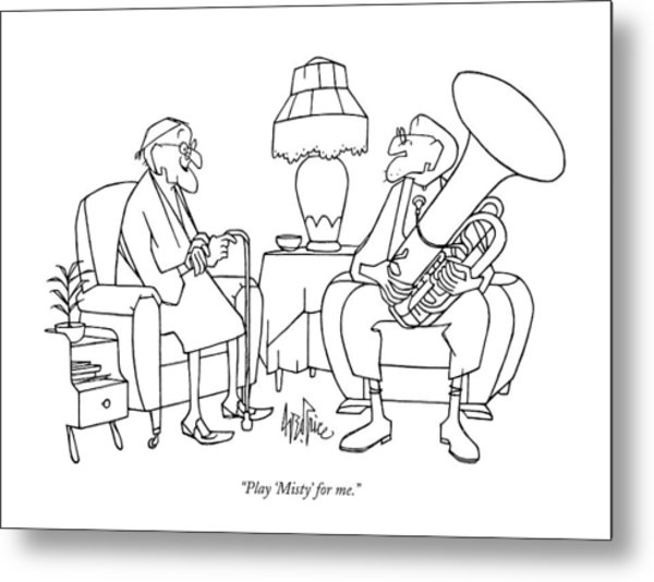 Play 'misty' For Me Metal Print