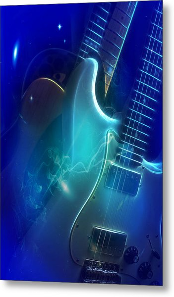 Play Them Blues Metal Print