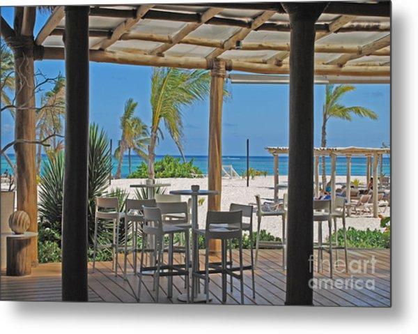 Playa Blanca Restaurant Bar Area Punta Cana Dominican Republic Metal Print