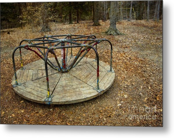 Playground In The Woods Metal Print