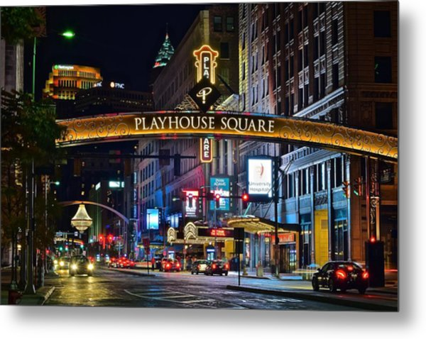 Playhouse Square Metal Print