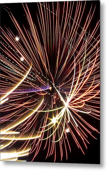 Playin With Fireworks Metal Print