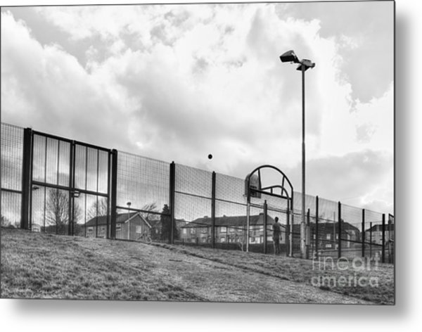 Playing Ball Metal Print