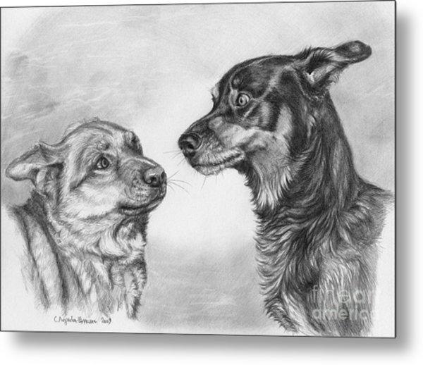 Playing Dog's Emotions Metal Print by Svetlana Ledneva-Schukina