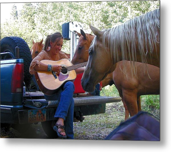 Playing For The Herd Metal Print