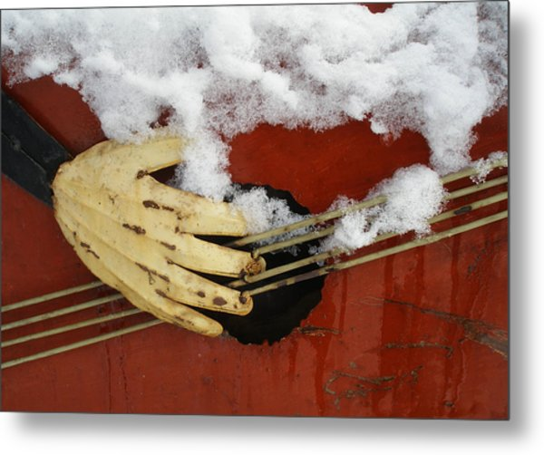 Playing The Cold Blues Metal Print