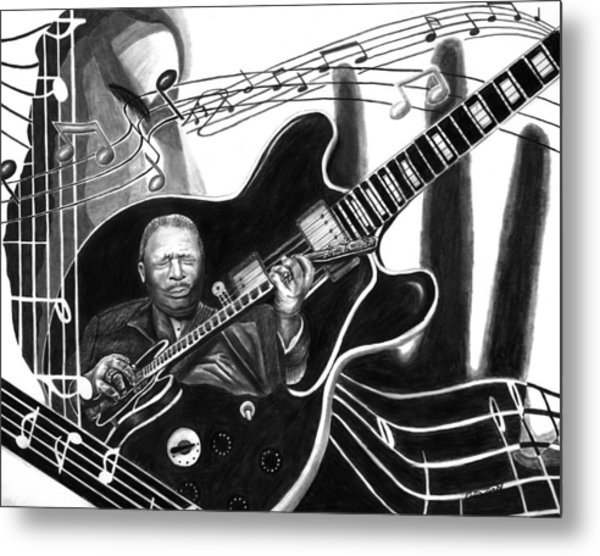 Playing With Lucille - Bb King Metal Print