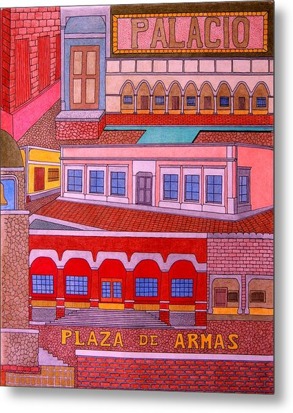 Plaza De Armas Metal Print