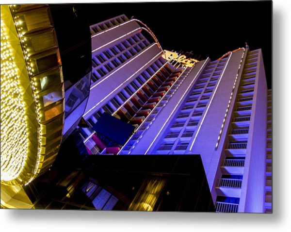 Plaza Hotel Downtown Vegas Metal Print