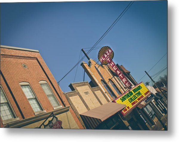 Plaza Theatre Metal Print