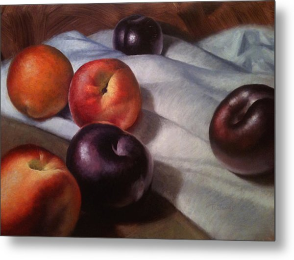 Plums And Nectarines Metal Print by Timothy Jones