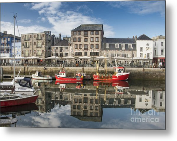 Plymouth Barbican Harbour Metal Print by Donald Davis