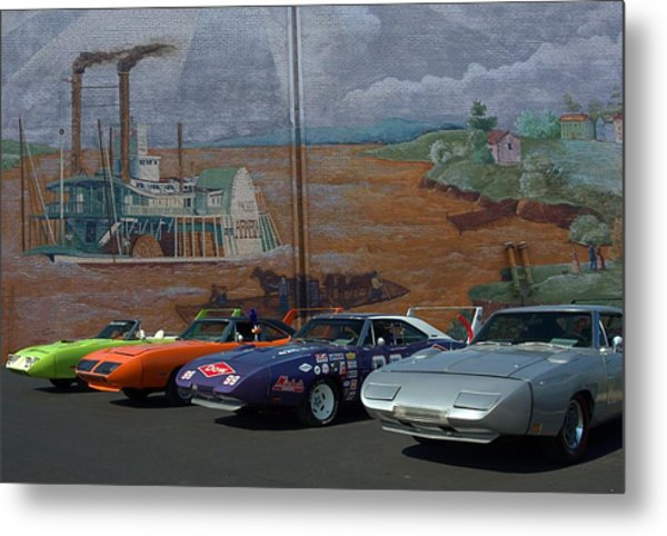 Plymouth Superbirds And Dodge  Daytonas Metal Print