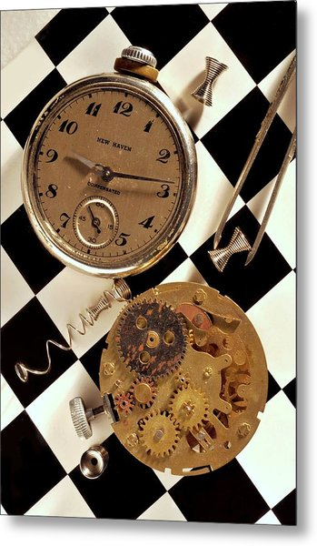 Pocket Watch Macro Number 2 Metal Print by John B Poisson