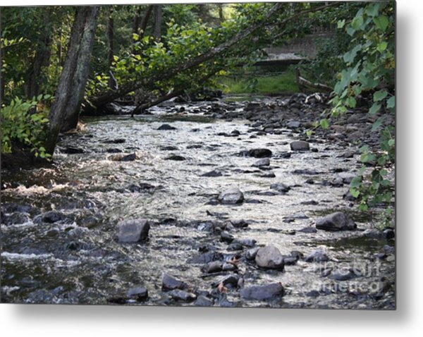 Poconos Gentle Stream Metal Print
