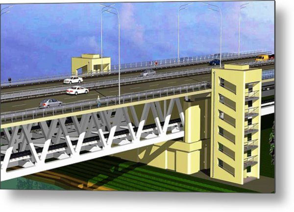 Podilsky Bridge Metal Print