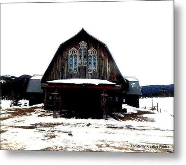 Poineer Church Metal Print by Misty Herrick