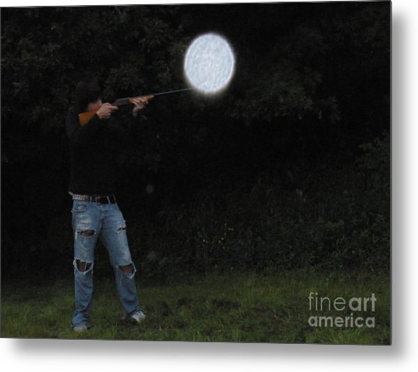 Point And Shoot Metal Print