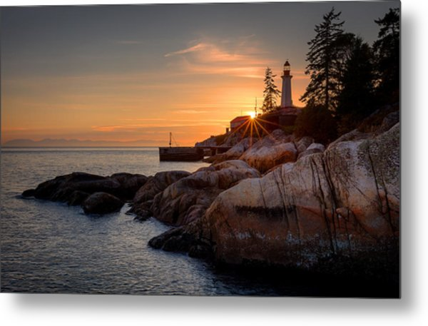 Point Atkinson Sunset Metal Print