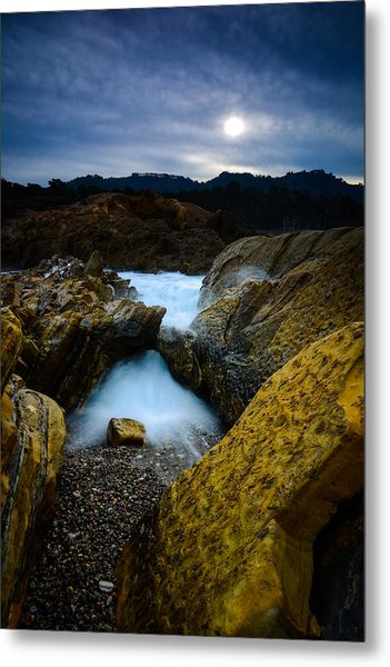 Point Lobos Big Sur Sea Arch Metal Print