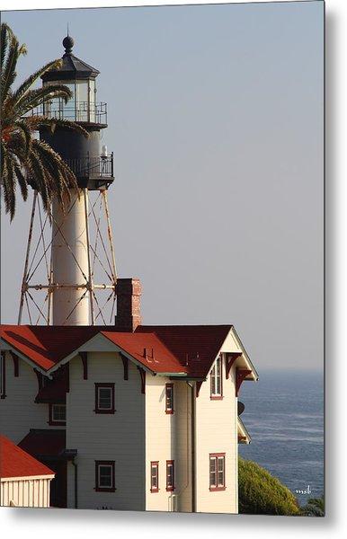 Point Loma California Lighthouse Metal Print by Mark Steven Burhart