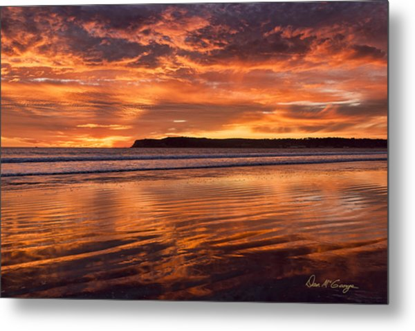Point Loma Fire Metal Print