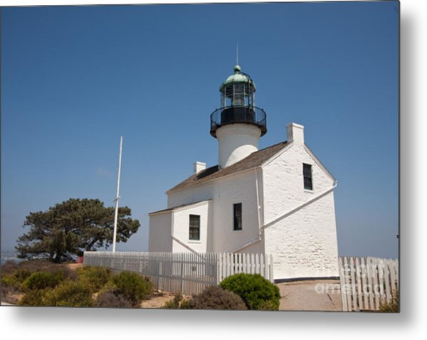 Point Loma Lighthouse Metal Print by Russell Christie