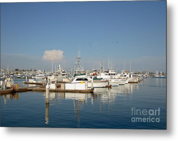 Point Loma Marina Metal Print by Russell Christie