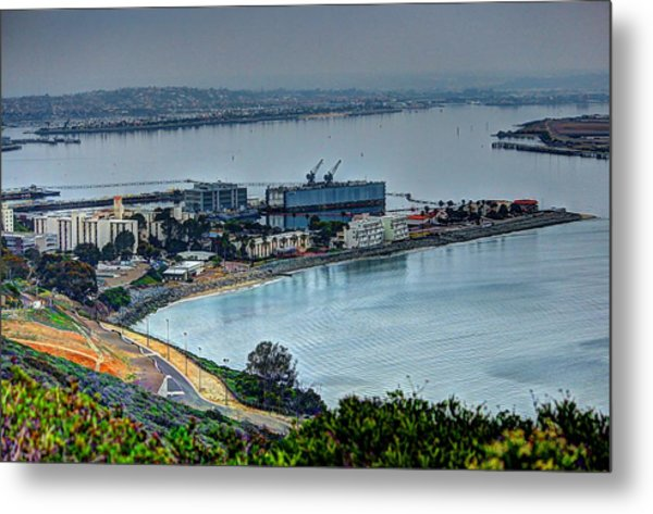 Point Loma Sub Base Metal Print by Walt Miller