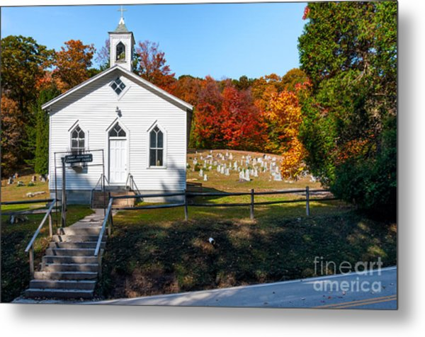 Point Mountain Community Church - Wv Metal Print