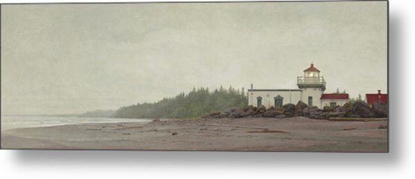 Point No Point Lighthouse Metal Print