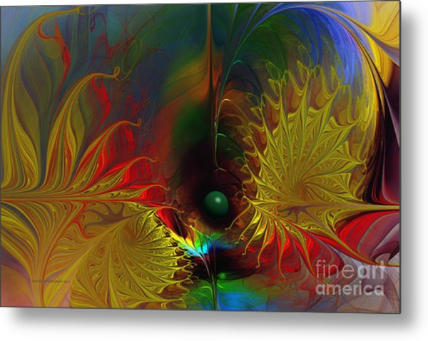 Point Of No Return-abstract Fractal Art Metal Print