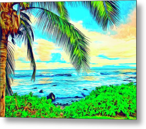 Poipu Sunrise Metal Print
